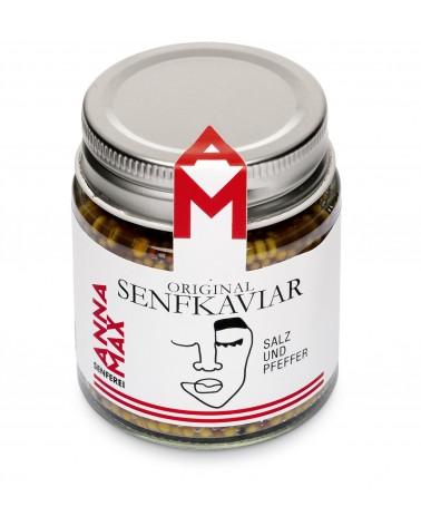 Senfkaviar Salz und Pfeffer
